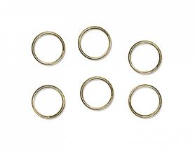 (AOR-019) Złote obrączki do dekoracji 48szt.