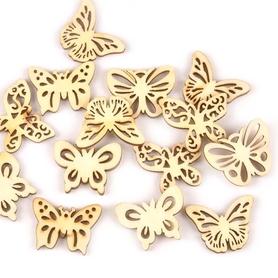 Ozdoby drewniane Motyle mix 10 szt.