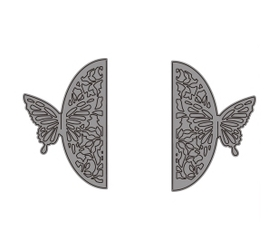 Wykrojnik Bordery z motylami 2 szt. (5319-2)