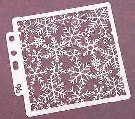 Szablon 13x13 cm (STEN15-22B) Śnieżynki