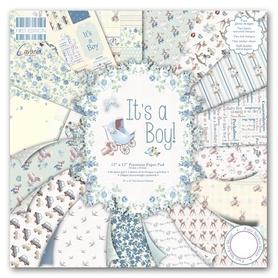 FEPAD075 Zestaw papierów 30,5x30,5 cm - It's a Boy