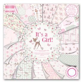 FEPAD079 Zestaw papierów 20x20cm  It's a Girl