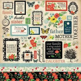 CBOF75014 Naklejki 30x30 - Carta Bella - Our Family