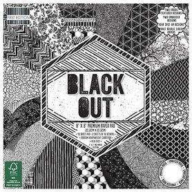 FEPAD141 Zestaw papierów Black Out 20x20 cm 48 ark
