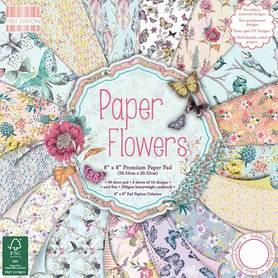 FEPAD094 Zestaw papierów Paper Flowers 20x20cm 48ark