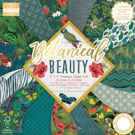 FEPAD186 Zestaw papierów Botanical Beauty 20x20cm  48ark