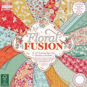 FEPAD156 Zestaw papierów Floral Fusion 20x20cm