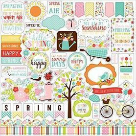 HES144014 Naklejki 30x30 - Hello Spring