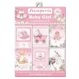 SBBPC05 Stamperia Baby Girl 24 ark 11.4x16,5cm