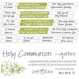 Komunia - Holy Communion - NAPISY - DIE - CUTS