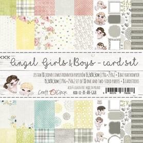 (ZK-AN-G&B) ANGEL GIRLS&BOYS Zestaw kartek