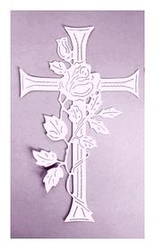 Wykrojnik Krzyż Róża (0711)