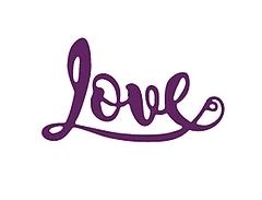 Wykrojnik Napis Love (0832)