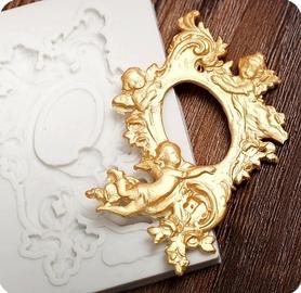 Foremka silikonowa Ornament z aniołkiem 173/1