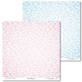 Arkusz papieru LL 30x30cm - Pink and Blue JOY - 04