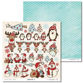 Arkusz papieru LL 30x30cm - Winter Fun - 01