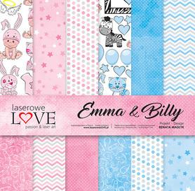 Zestaw papierów LL - 30,5x30,5cm - Emma & Billy