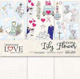 Zestaw papierów LL - 30,5x30,5cm - Lily Flower Extra