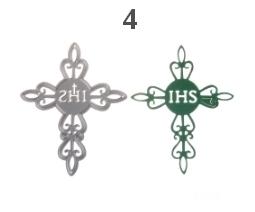 Wykrojnik komunijny IHS krzyż