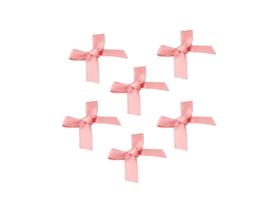 Kokardki satynowe atłasowe różowe 10 szt.