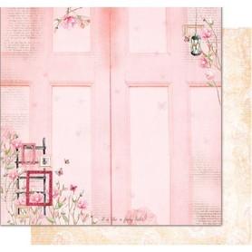 PD1100 Kora Arkusz papieru 30x30cm Pink door