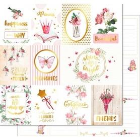 PD1107 Kora Arkusz papieru 30x30cm Song of birds