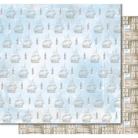 PD1094 Kora Arkusz papieru 30x30cm Statki