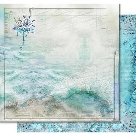 PD1092 Kora Arkusz papieru 30x30cm Nautical chart