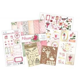 KS0115 Zestaw papiery/ stemple/ naklejki/  Princess Garden