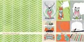 GS Arkusz papieru 30x30 Forest stories winter tales 2014