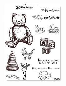 BW06 Zestaw naklejek A5 Dziecko Witaj na świecie