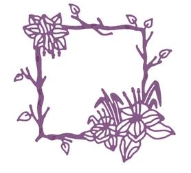 Wykrojnik Ramka kwadratowa z kwiatami (10433)