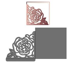 Wykrojnik Ramka zginana z różą (4419/2)