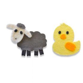 Wykrojnik Sizzix Bigz Die - Sweet Spring Animals - Owieczka Kaczuszka