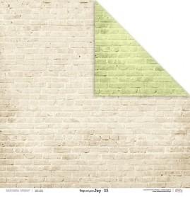 Arkusz papieru LL 30x30cm - Beige and green JOY 03