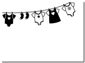 Folder do embossingu 1218-130 Sznurek z ubrankami