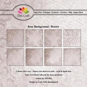 Papiery Dixi 15x15cm ROSE BACKGROUND BROWN 24ark