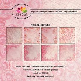 Papiery Dixi 15x15cm ROSE BACKGROUND 24ark
