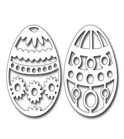 Wykrojnik Dwie pisanki jajka Wielkanoc (0319)
