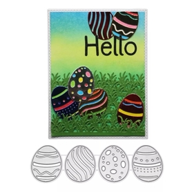 Wykrojnik Zestaw 4 pisanek Jajka Wielkanoc (60456)