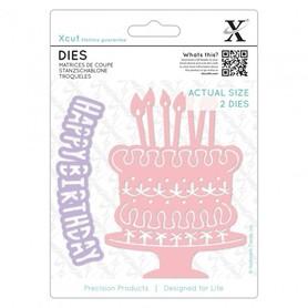 Wykrojnik - X-cut - Birthday Cake 2 el.