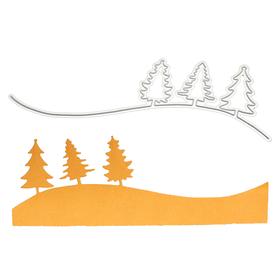 Wykrojnik Scrapbooking Border z choinkami (8621) (A8)