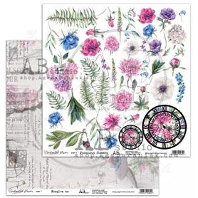 Arkusz papieru AB - Forgive me / Poisonous flowers 30x30 cm