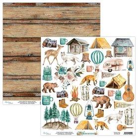 Papier 30x30 z elementami - Mintay - Wilderness 09