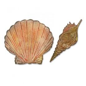 Wykrojnik + folder Sizzix Bigz - Seashells - Muszelki