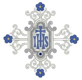 Wykrojnik - Ornament IHS i kwiatki (1790)