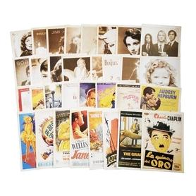 Zestaw 32 pocztówek vintage z gwiazdami