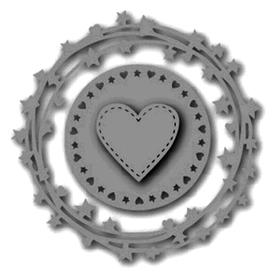 Wykrojnik Ramki okrągłe i serce 3 el. (1795)