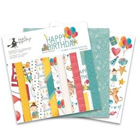 Bloczek papierów P13 Happy Birthday 30x30cm