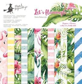 Bloczek papierów P13 Let's flamingle 30x30cm